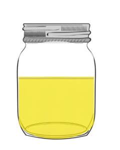 store cooking oil in old containers for possible reuse