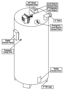 used cooking oil inside tank configuration